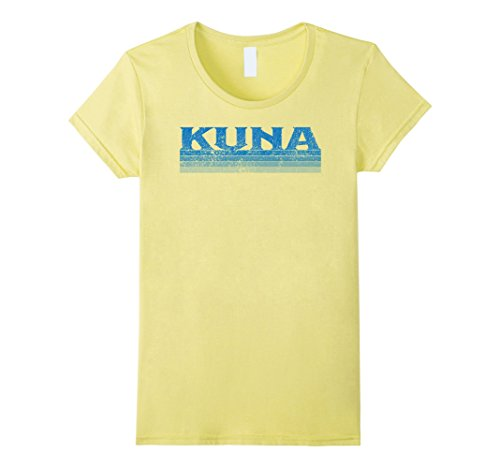 Womens Vintage 1980S Retro Kuna Idaho T Shirt Xl Lemon