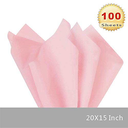 PMLAND Premium Quality Gift Wrap Tissue Paper - Pink - 15 Inches X 20 Inches 100 Sheets