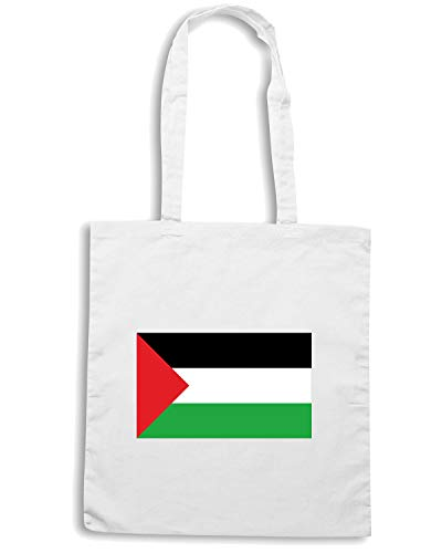 PALESTINA Bianca Borsa FLAG Speed Shopper Shirt TM0220 0xCqa1nXAw