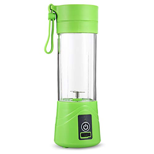 Multipurpose Portable Juicer Blender Extractor Machine USB Charging Household 380ml Egg Whisk/Food small Cut Mixer Juicer Cup,Green