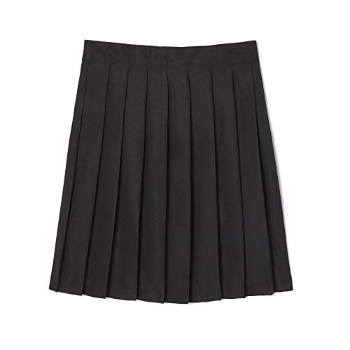 - French Toast  Girls' Pleated Skirt, Black, 6,Little Girls