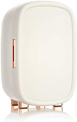 12L化粧品冷蔵庫小型冷蔵庫ノイズなし10°C一定温度パーティションストレージ低エネルギー(270X 250X425mm),白