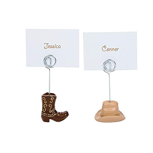 Holder Places (Fun Express - Western Wedding Place Card Holders for Wedding - Party Supplies - Favors - Placecards And Holders - Wedding - 12 Pieces)