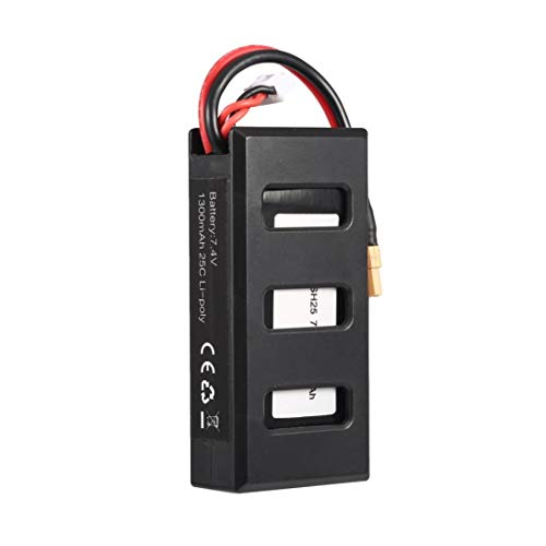 Baynne-US MJX B6 7.4V 1300mAh 25C Li-poly RC Battery 903062 with XT30 Plug Compatible for RC - Li Poly 7.4v Battery