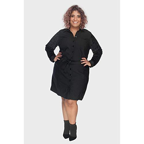 Vestido Julia Devorê Plus Size Preto-54