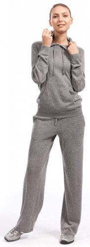 Lounge Pants - 100% Cashmere - by Citizen Cashmere (Large, Light Grey) by Citizen Cashmere (Image #6)