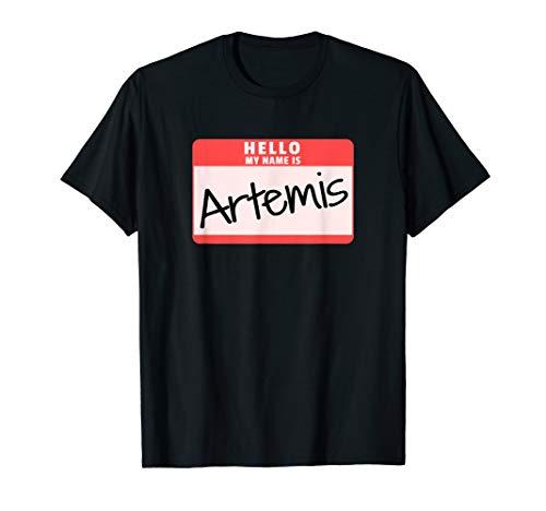 Hello My Name is Artemis Halloween Greek God Costume T-Shirt ()
