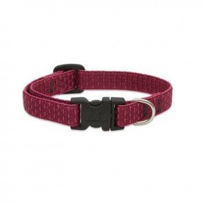 Scott - Adjustable Burgundy Rib Nylon Dog Collar - Size: X-Large 18