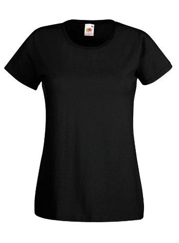 Damen Lady-Fit Kurzarm T-Shirt verschiedene Farben und Größen - Shirtarena Bündel XXL,Schwarz