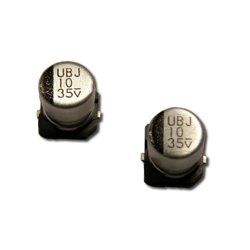 Rubycon 47uF 16V SMD (Surface Mount) Aluminum Electrolytic Capacitor 105°C LOW IMPEDANCE 20% (Continuous strip of 5)