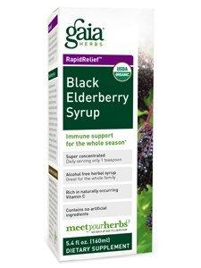 Gaia Herbs, Black Elderberry Syrup Organic, 5.4 Fl Oz