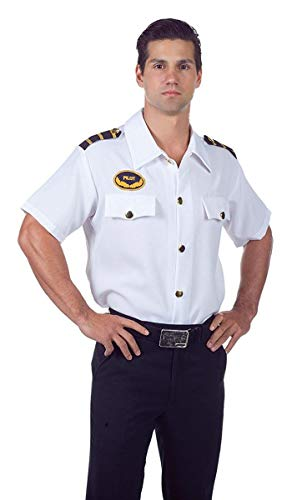 Underwraps Men's Pilot Shirt, White, One Size ()