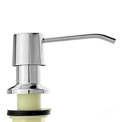 cozhomtek fregadero dispensador de jabón líquido plato sus 304 Acero inoxidable Botella de bomba, cocina