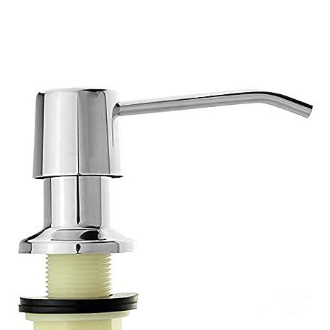 Amazon.com: Dispensador de jabón para fregadero de acero ...