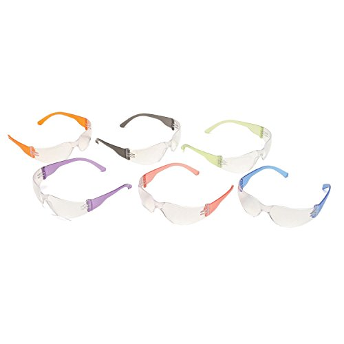 Pyramex Mini Intruder Safety Glasses (12 Pack), Multicolor - For Children or Women with Smaller Facial Sizes