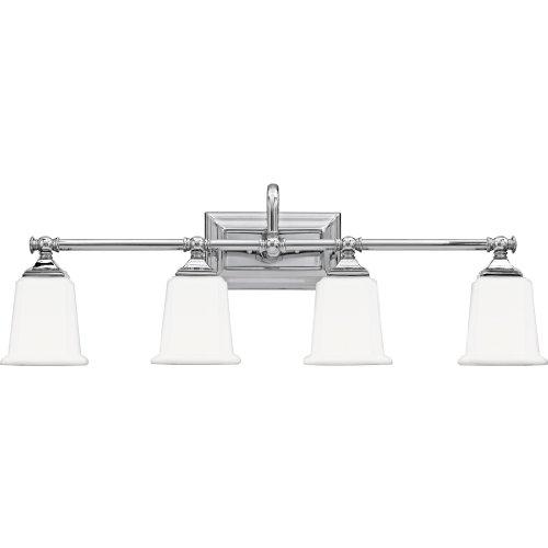 Quoizel nl8604c nicholas 4 light bath light polished chrome vanity lighting fixtures Chrome bathroom vanity light fixtures