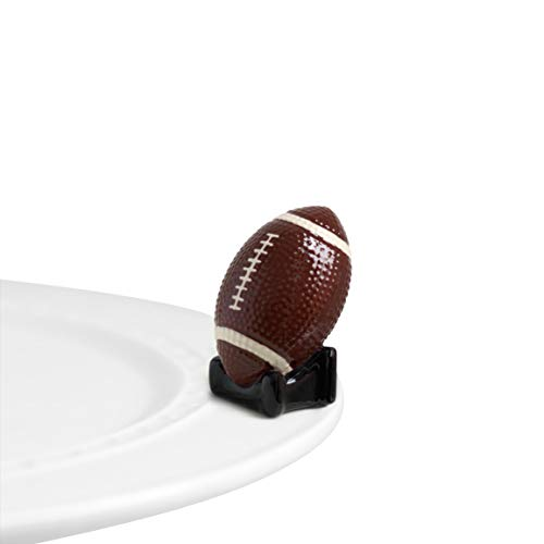 Nora Fleming Hand-Painted Mini: Touchdown (Football) A46 ()