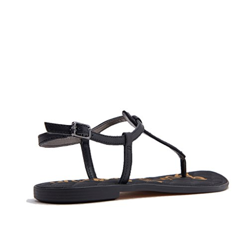 Black Sequins Edelman Small Gigi Sam Sandals Women's Fashion WXpW10q