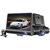 WINOMO 4 inch 1080p 170 Angle Dashboard Camera Recorder Car Dash Cam DVR with 3 Lens