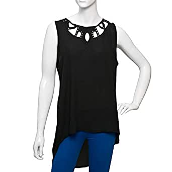Parkhande Black Mixed Round Neck Blouse For Women