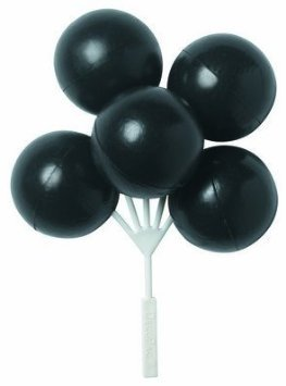 Black Balloon Bouquet Cluster Cake Topper Decorative Picks - 4 pcs