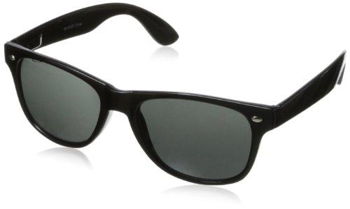 MLC Eyewear Classic Wayfarer Sunglasses,Black/Black,50 - Wayfarer 50mm