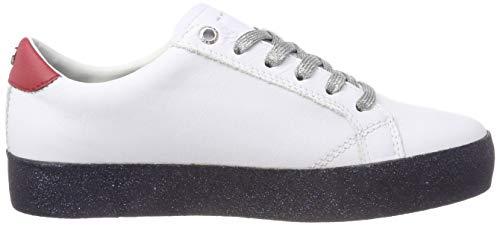 Dress Hilfiger Glitter Basses Sneaker Rwb 020 Tommy Femme Sneakers Blanc wq7EFwU