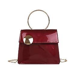 Willow S Fashion Women Handbag Large Button Crossbody Bag Fashion Patent Leather Chain Bag