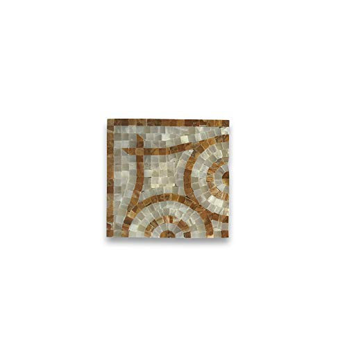 - Stone Center Online Mirage Onyx 6.3x6.3 Marble Mosaic Border Corner Tile Polished