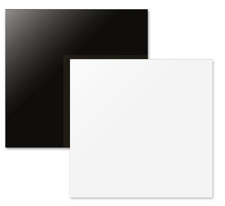 "White&Black Reflective and None Reflective photography Board with Cleaning Cloth for Small and Medium Size Commercial Product Image Photography Shooting 12""12"" Acrylic Display - Board Background"