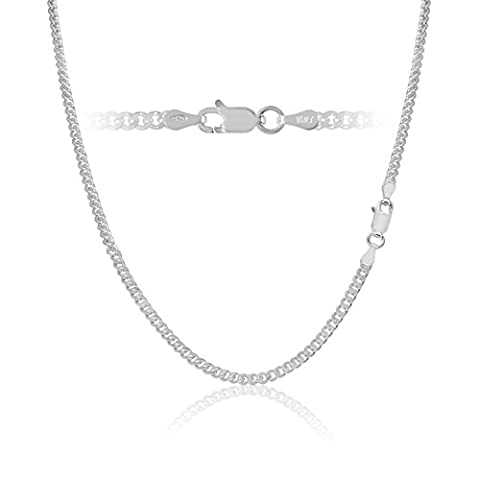 Sterling Silver Cuban Curb Link Chain Necklace Italy 3mm 26 inch - Sterling Silver Cuban Link Chain