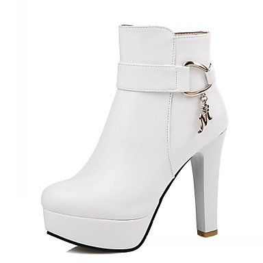 RTRY Women'S Boots Spring Fall Winter Platform Comfort Novelty Patent Leather Leatherette Wedding Office &Amp; Career Dress Casual Party &Amp; Evening US4-4.5 / EU34 / UK2-2.5 / CN33 WeKgn4BF