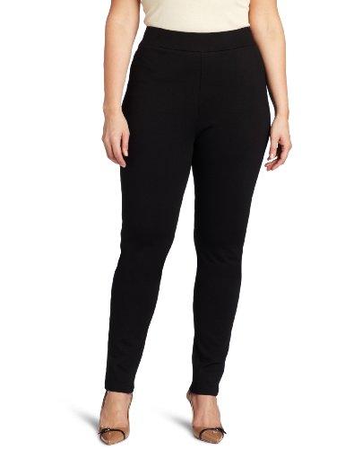NYDJ Women's Plus-Size Jodie Ponte Legging Pant, Black, 16W