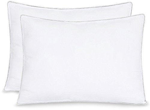Equinox 2-Pack Bed Pillows - 20' x 26' - 900GSM Ultra Soft Sand Washed Cover, with Lofty Microfiber Filling