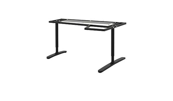IKEA BEKANT - Bastidor de esquina mesa, negro - 160x110 cm: Amazon ...
