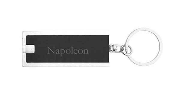 Llavero plástico personalizado con lámpara LED con Napoleon ...