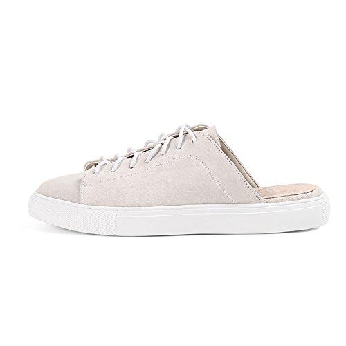 Europa y los estados unidos baotou zapatillas de moda femenina/Zapatos planos perezoso del desgaste del verano D