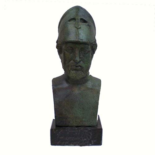 Hand Made Pericles Bronze Bust - Ancient Greece Athens Golden Age General - Antique Style