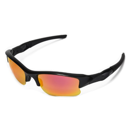 868f50a18cd Walleva Replacement Lenses Oakley Flak Jacket XLJ Sunglasses - Multiple  Options Available (Fire Red Mirror