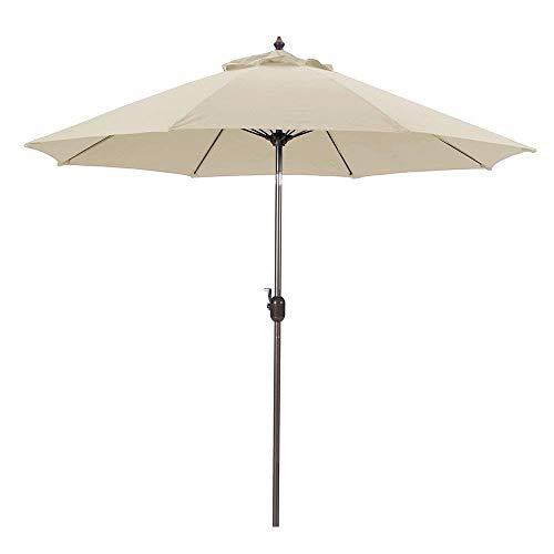 Galtech 636MB29 9 Foot Aluminum Manual Tilt Sun Shade Patio Umbrella, Beige
