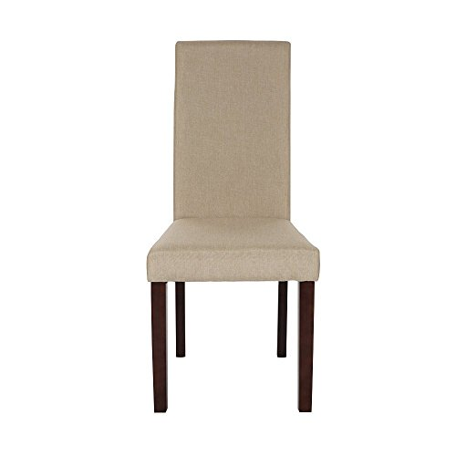 Glitzhome Padded Fabric Dining Chairs Beige, Set Of Two by Glitzhome (Image #2)'