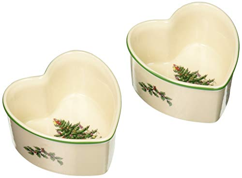 (Spode Christmas Tree Heart Shaped Scalloped Ramekin (Set of 2))