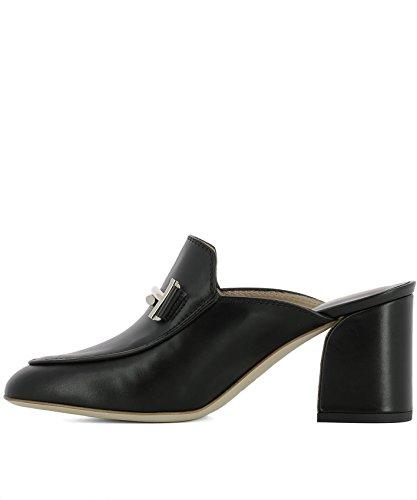 Chaussures XXW81A0X620G0CB999 Talons Tod's À Cuir Noir Femme 5qTRI