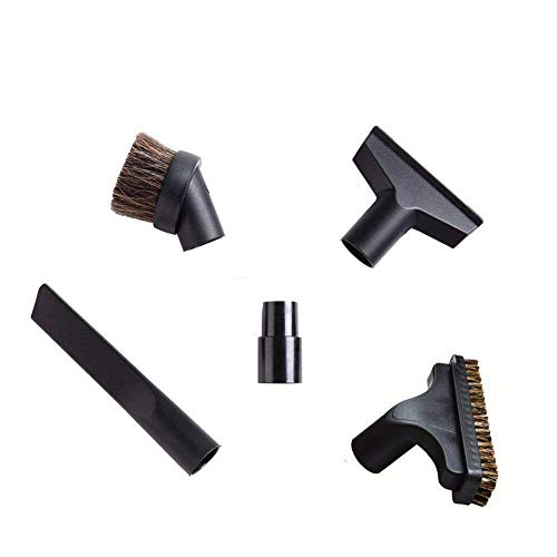 EZ SPARES 5PCS Universal Replacement 32mm & 35mm Vacuum Cleaner Accessories Horsehair Brush Kit for Hoover, Eureka, Royal, Dirt Devil,Rainbow Kenmore,Electrolux, Panasonic Shop Vac
