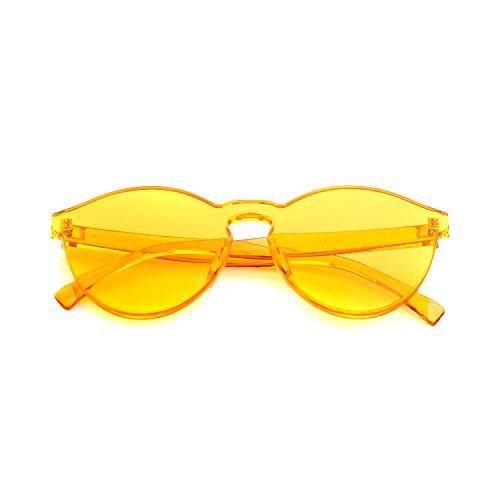 de Gafas Amarillo sol colores ADEWU 1 Gafas montura sol una de de sin pieza de transparentes Pn76qd