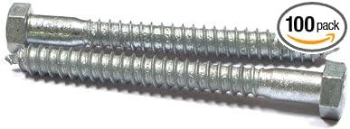 Hex Head Lag Screw Bolts Hot Dip Galvanized 5//8 X 3 Steel 70 pcs