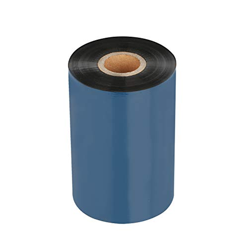 Thermal Transfer Ribbon - Premium Resin-Enhanced Wax Printer Ribbon 1inch core Ink Out - 1 Roll (4.33