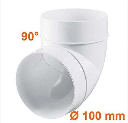 Arco de PVC AL 90 grados 100D 100 mm. Di/ámetro interior