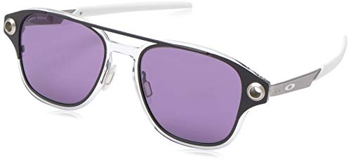 Oakley Men's OO6042 Coldfuse Square Titamium Sunglasses, Matte Black/Prizm Indigo, 52 mm ()