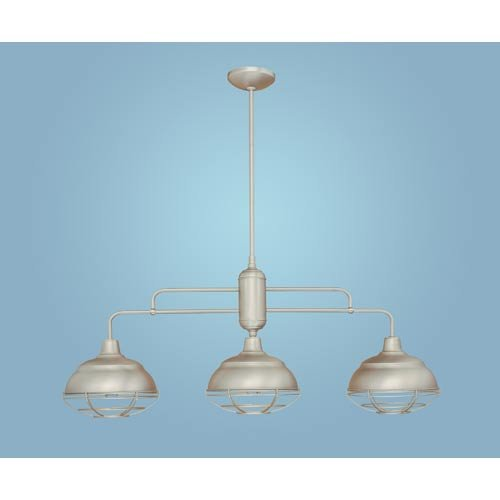 Neo-Industrial 3 Light Kitchen Pendant Finish: Satin Nickel